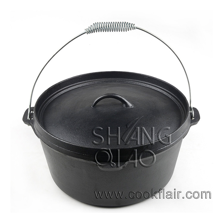 Pre-seasoned Cast Iron Dutch Oven without Legs