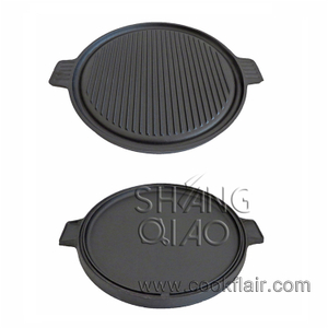Round Cast Iron Reversible Griddle