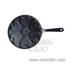 Round Cast Iron Plett Pan with Long Handle