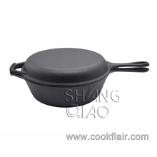 Non-stick Cast Iron Combo Skillet and Pot