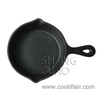 Round Cast Iron Mini Skillet with Spouts