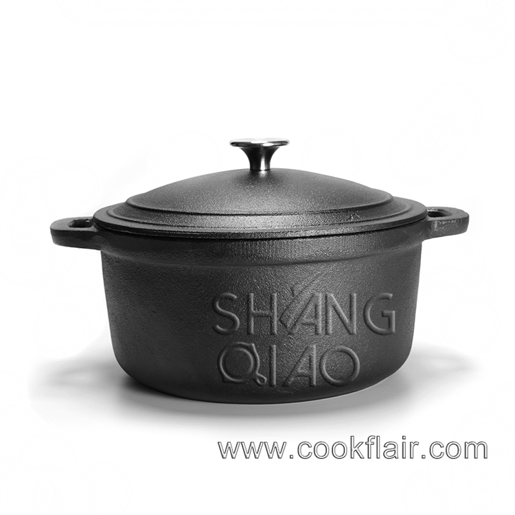 Cast Iron Casserole With Dual Handles