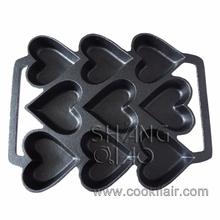 Cast Iron Heart Shape Non-stick Cake Pan