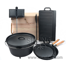 Cast Iron Camping 9 piece Cookware Set