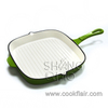 Enameled Square Cast Iron Grill Pan