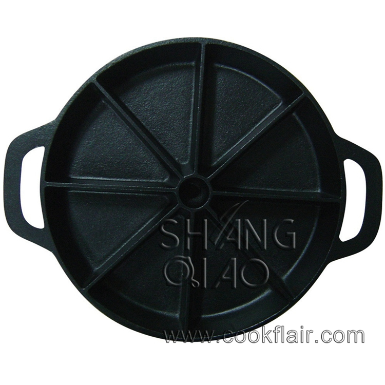 Cast Iron Wedge Pan with Two Handles