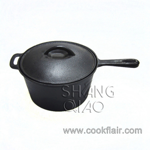 Pre-seasoned Cast Iron Stew Pot with Lid