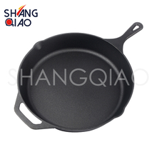 12 Inches Cast Iron Skillet with Dual Handle